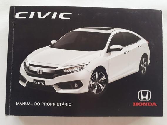 Manual Do Proprietário Honda Civic G10 2016/2017