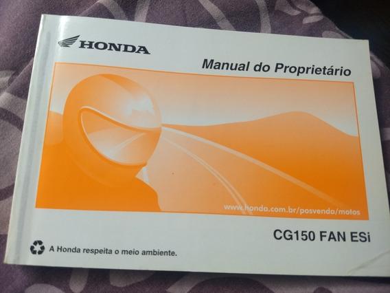 Manual Proprietario Honda Cg 150 Fan Ano 2010