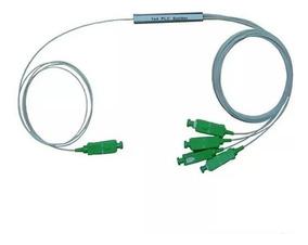 Splitter Plc 1x4 Conectorizado Sc Apc Sc/apc Fibra Optica