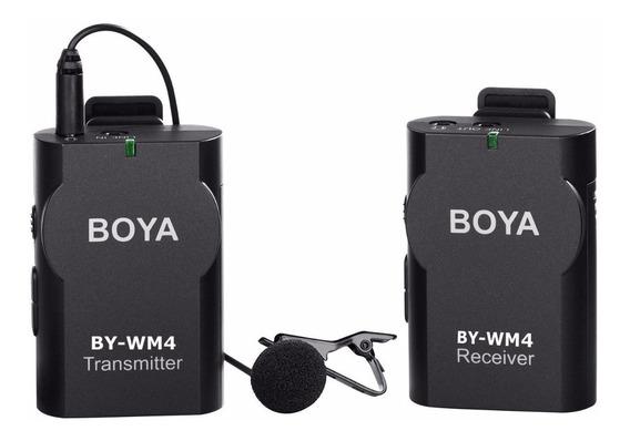 Microfone Lapela Boya Wm4 Dslr Canon Nikon Sony Smartphone