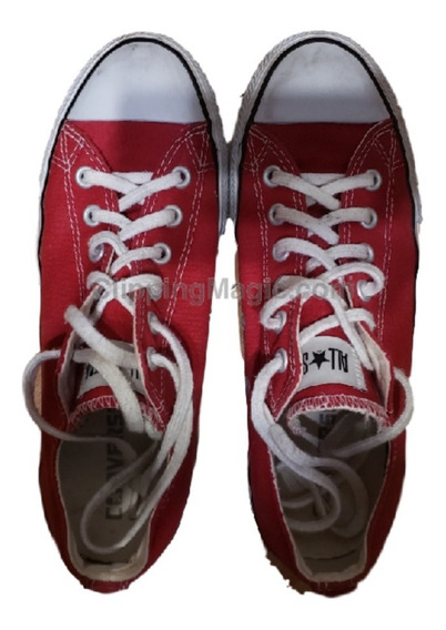 Zapatillas Converse All Stars Ox Rojas Talle 7 Usa Lona