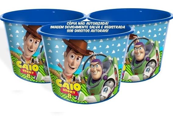 20 Balde Pipoca Toy Story Personalizado 1,5l Lembrança