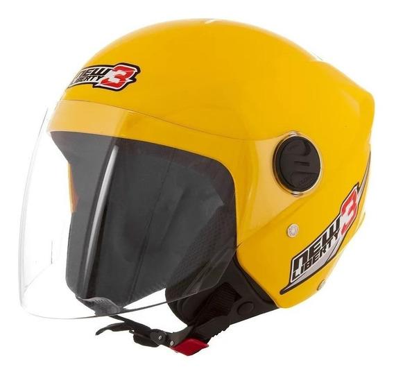 Capacete para moto aberto Pro Tork New Liberty Three amarelo tamanho 58