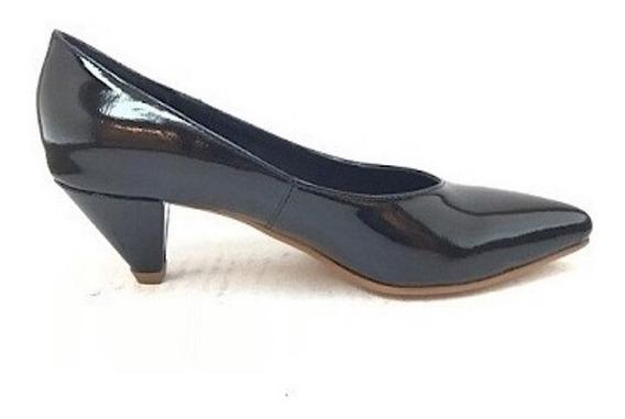 Zapato Mujer Stiletto Natacha Charol Negro #1121