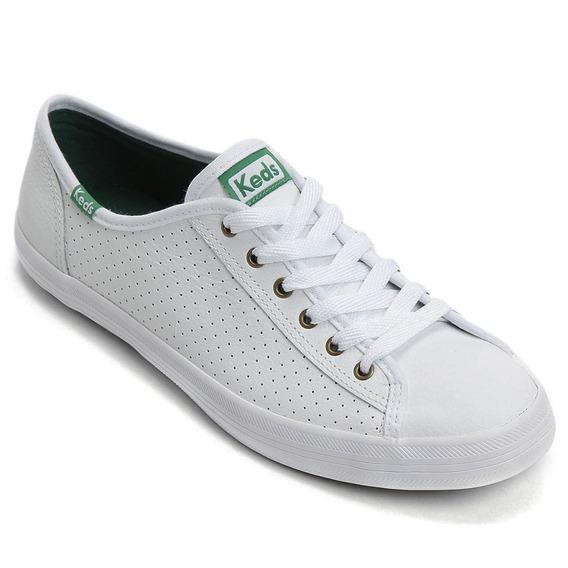 Kd810998 - Tênis Keds Kickstar Perf Leather Branco Couro