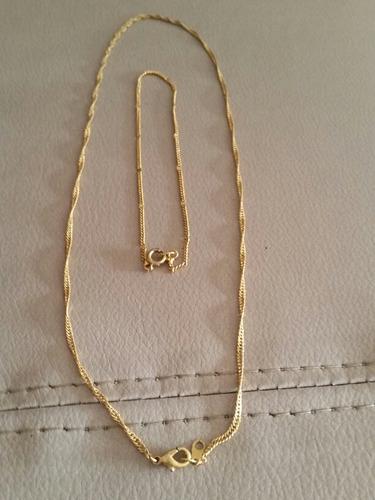 11cdae6e98cf Collar Y Pulsera En Baño De Oro 18k A Mitad De Precio