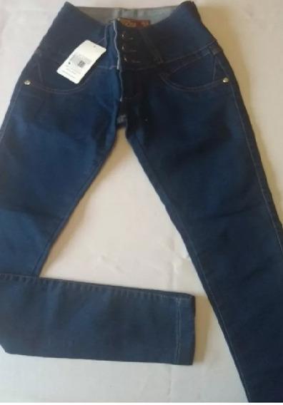 Calça Fem. Jeans Cintura Alta Hot Pants Cós Largo Ref.m33!