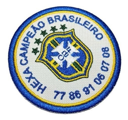 Tpc064 São Paulo Hexa Campeão Time Futebol Patch Bordado 8cm
