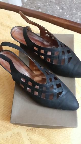 Zapatos De Cuero De Mujer, Talle 38