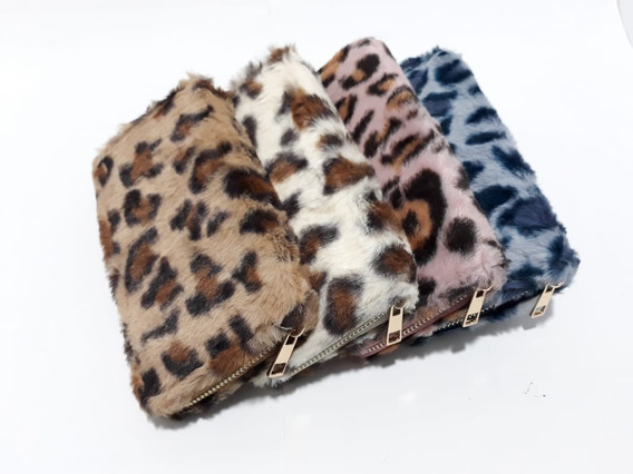 Billetera Animal Print Pelo Sintetico Color A Elegir 0800033