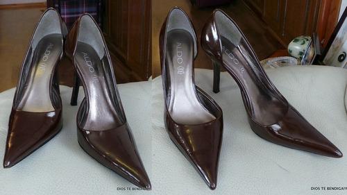 cdb33e61 Usado · Mujer · Zapatos · Aldo Zapatos Reina Cuero Charol Prelescentes Cafe  41