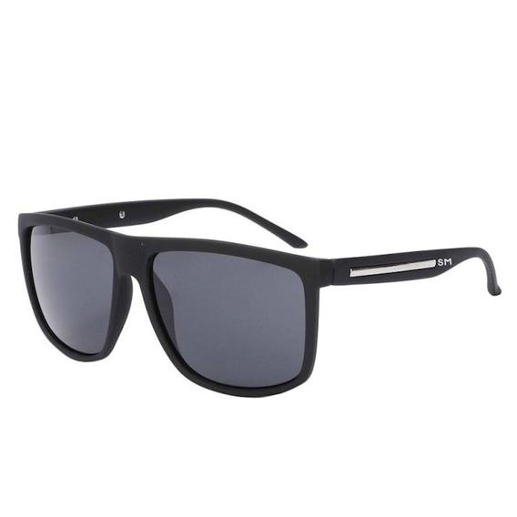 Óculos De Sol Masculino Sandro Moscoloni Adam Preto