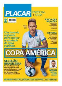 Placar Guia Da Copa América 2019 Digitalizado + 2 Álbuns