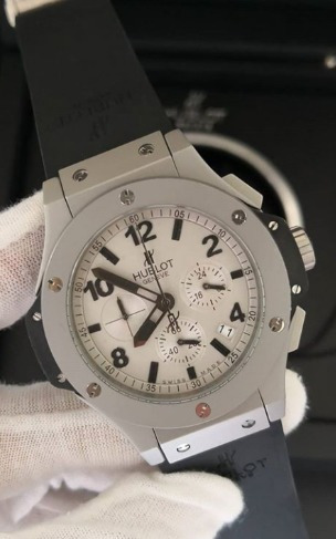 Relógio Masculino Hublo Titanium Pulseira Preta