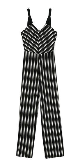 Jumpsuit Cropped Cuello V De Mujer C&a
