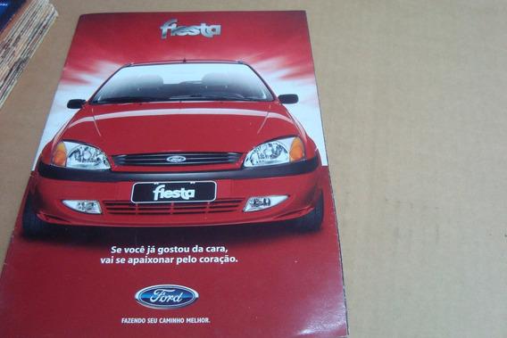 Poster Cartaz Foto Catalogo Distribuidor Ford Fiesta