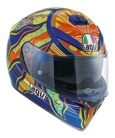 Capacete para moto integral AGV K-3 SV Five Continents multicolor XXL