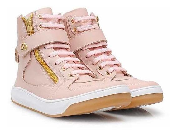 Tênis Sneaker Hardcore Footwear Botinha Juju Salimeni Couro