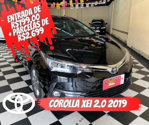 Toyota Corolla Xei 2.0 2.0 Preta 2018/2019 Flex Aut