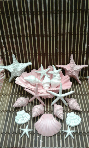 Estrelas E Conchas 18pçs Casamento Festa Batizado Enfeite 15