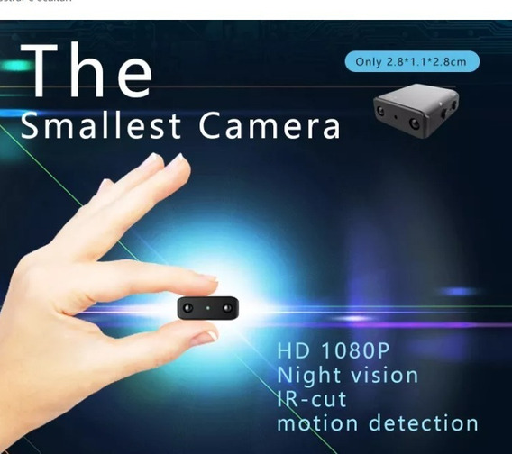 Micro Câmera Xd Wifi 1080p Night Vision E Motion Detector Menor Hd Do Ml