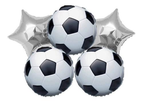 Globos Metalizados Futbol X5