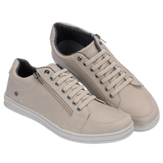 Sapato Masculino Com Zíper Lateral Lançamento Selten