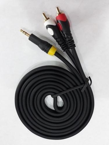 Cable Auxiliar Plug 3.5mm A Rca De 1.8 Mts,de Alta Calidad.