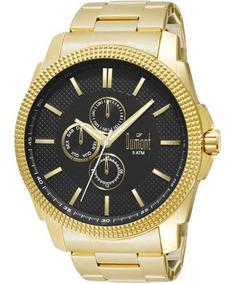 Relógio Masculino Dumont Traveller Du6p27ac/4p - Dourado...