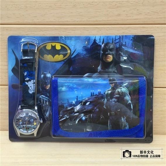 Kit Batman - Relógio E Bolsa, Super Heróis, Infantil, Kids