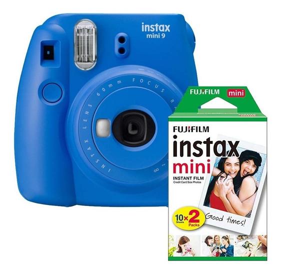 Máquina Fotográfica Instantânea Instax Mini 9 Filme 20 Poses