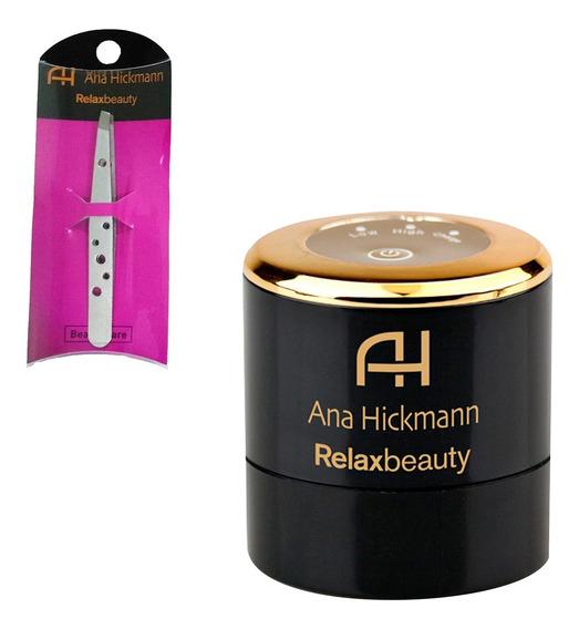 Auto Aplicador Base Perfect Make Up + Pinça Prata Relaxmedic