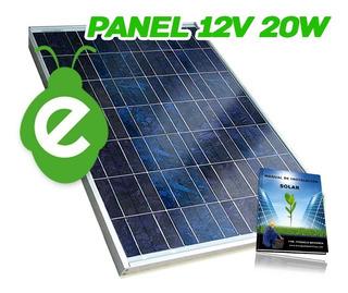 Panel Solar Fotovoltaico 20 Watts 20 Watt 20w P/ Batería 12v