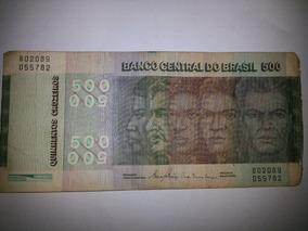 Nota Antiga De 500 Cruzeiros Raças 1980 Rl 01