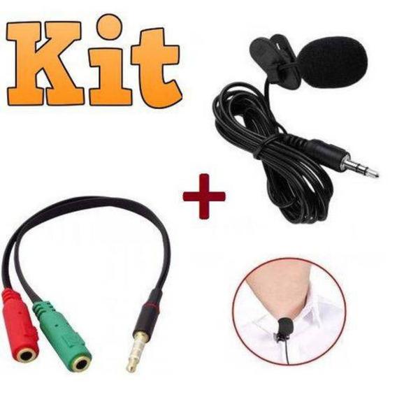 Kit Youtuber Microfone De Lapela