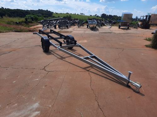 Imagem 1 de 15 de Carreta Reboque Barco Alumínio Pescaria  6 M Zero Km