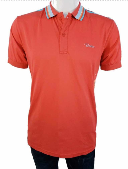 Playera Para Caballero Bratto Tipo Polo Color Coral 04-02 1