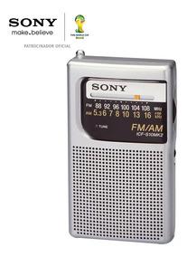 Radio Portatil Am/fm Sony Icf-s10mk2 Silver