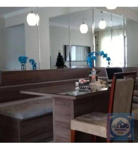 Apartamento Com 3 Dormitórios À Venda, 64 M² Por R$ 329.000,00 - Areia Branca - Santos/sp - Ap4228