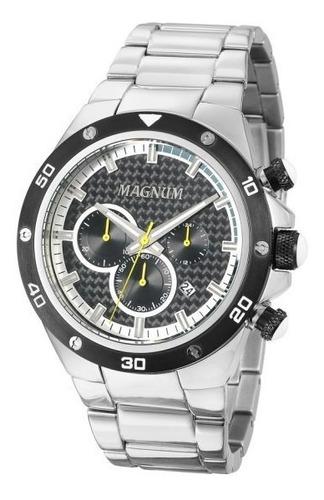 Relógio Masculino Prateado Magnum Business  Ma34281y