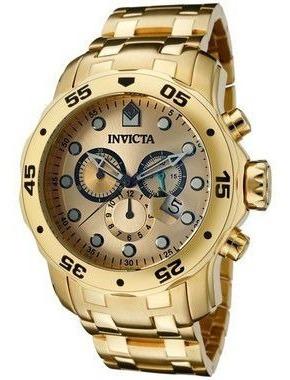 Relógio Invicta Pro Diver 0074 Banho De Ouro 18k