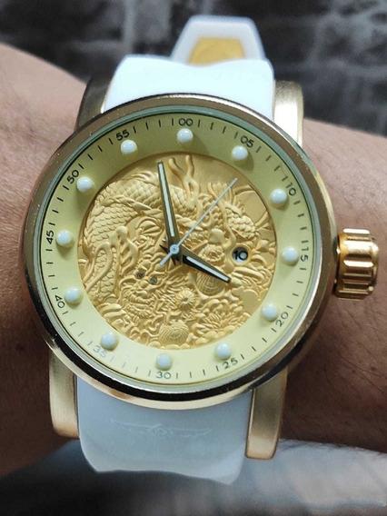 Relógio Masculino Yakuzh Barato D+ Com Estojo Preço Baixo!!!