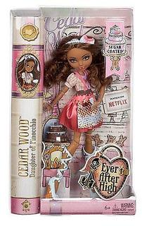 Ever After High Sugar Coated Cedar Wood Doll - ¡nuevo Y Sel