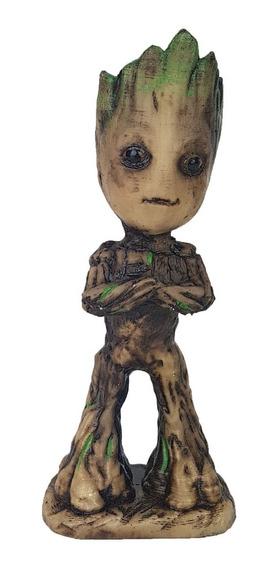 Groot Criança Guardioes Da Galaxia Decoração Resina 17cm