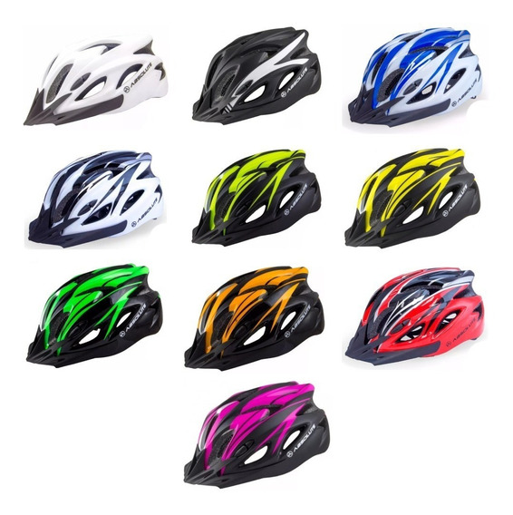 Capacete Absolute Sinalizador Led Ciclismo Bike Nero Speed Mtb Masculino Ou Feminino Varias Cores