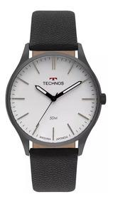 Relógio Technos Masculino Classic Steel Original 2035mqq/2b
