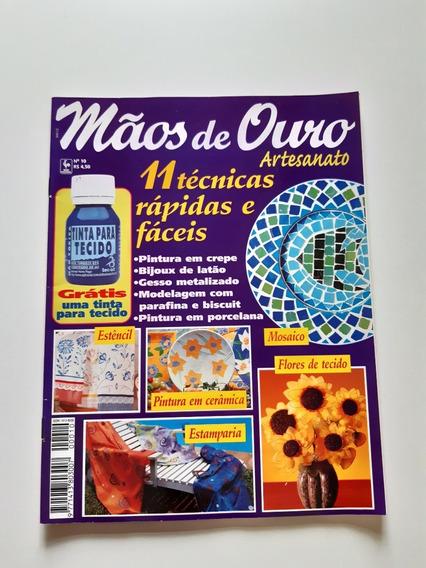 Revista Mãos De Ouro Artesanato Mosaico Estamparia D706