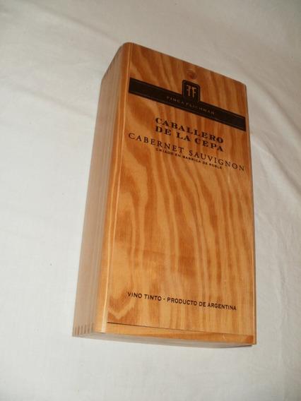 Caja Estuche Cofre Madera Vacia 2 Botellas Vino X Caballito