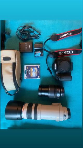 Câmera 7d E Lentes Ótimo Estado ! 100/400 E Efs 15-85