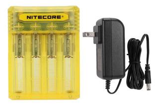 Cargador De Batería Recargable Para Nitecore Q4 Enchufe De E